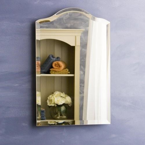 Scallop Top Small Recessed Medicine Cabinet
