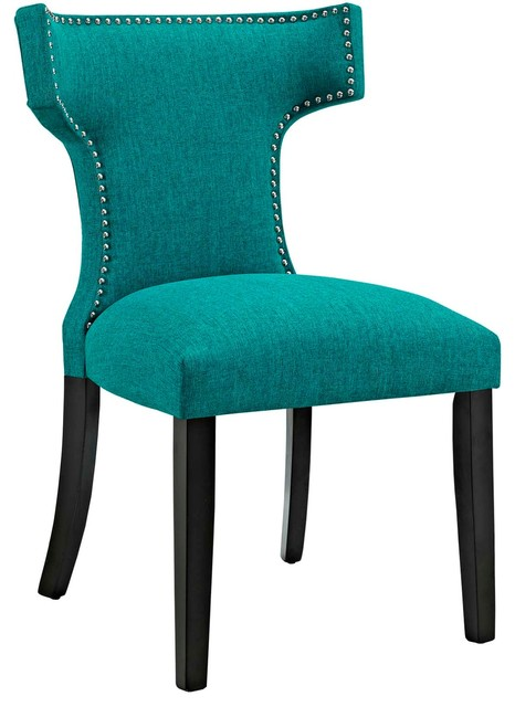 Modern Contemporary Urban Design Kitchen Room Dining Chair, Blue, Fabric by America Luxury