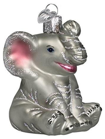 Old World Christmas Little Elephant Glass Blown Ornament