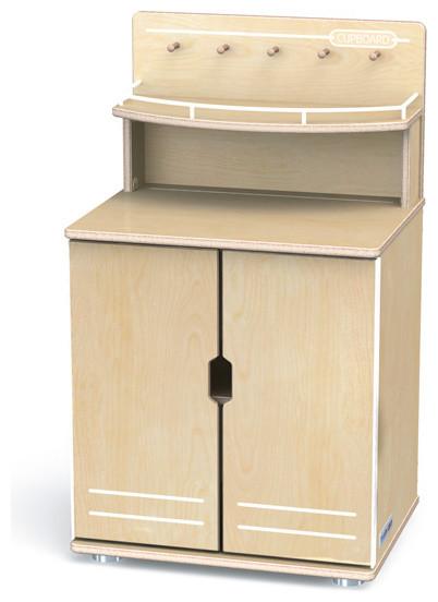 Truemodern, Play Kitchen Cupboard, Anodized Aluminum - Pantry Cabinets - by Jonti-Craft