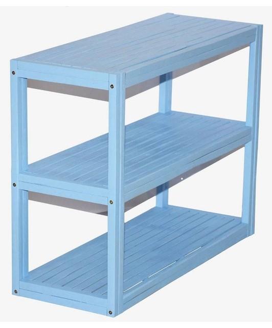 3 tier rectangular rack black display and wall shelves. Black Bedroom Furniture Sets. Home Design Ideas