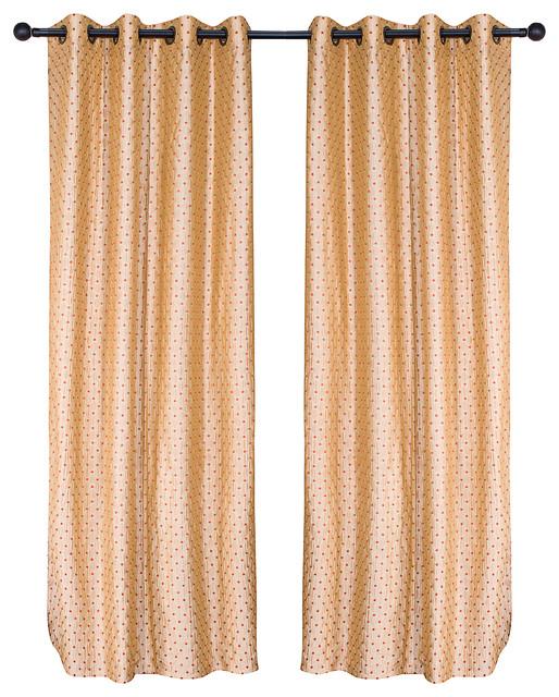 Yellow Grommet Curtain, Single Panel.