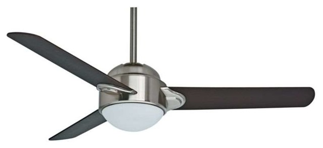 """Casablanca 59083, Trident 54"""" Indoor Ceiling Fan With Light, Brushed Nickel."""