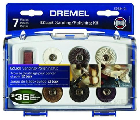 Dremel Ez Lock Sanding And Polishing Kit, 7 Piece Kit.