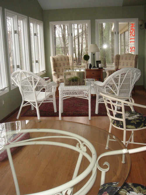 Sunroom/Living Room/Dining Room Furniture Re Do