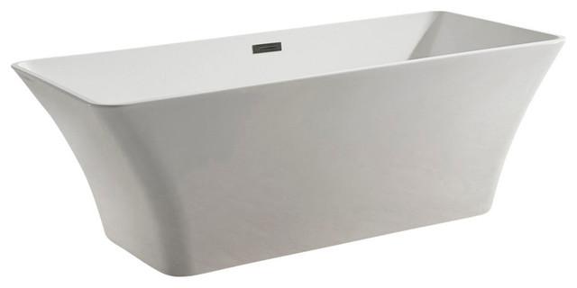 67 Bathroom White Color Freestanding Acrylic Bathtub Golden Vantage.