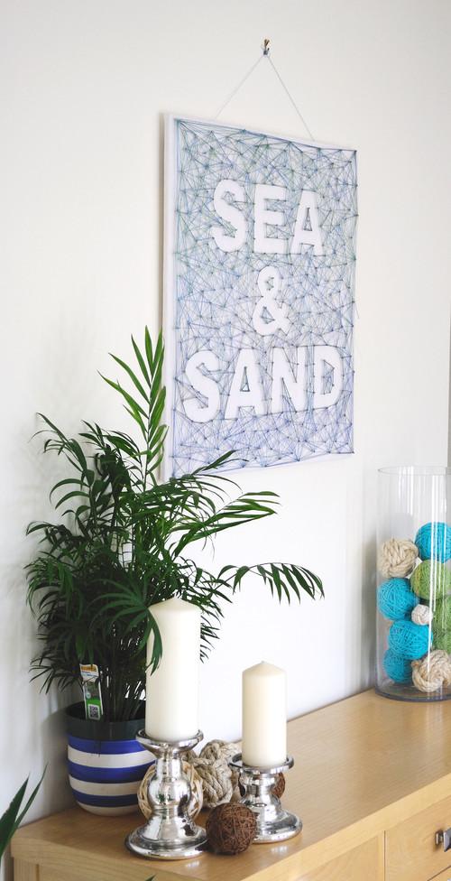 Sea & Sand String art