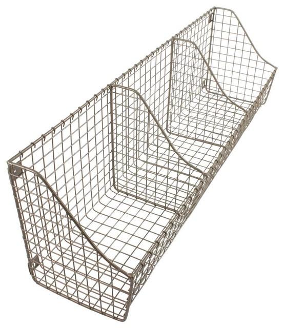 91683c4f4f8 Wall Mounted Wire Basket - Farmhouse - Baskets - by Organize-It