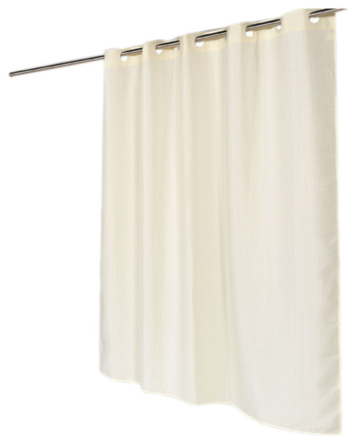 American Crafts Ez On Waffle Weave Polyester Shower Curtain