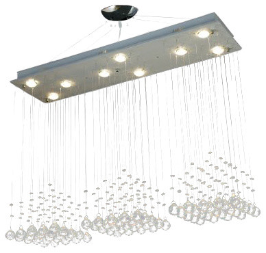 Modern Rain Drop Chandelier With Crystal Balls - Traditional ...