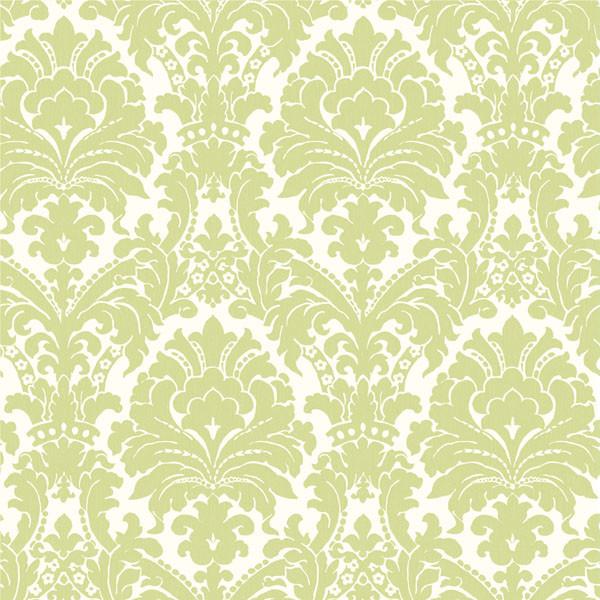 ginger green brocade damask wallpaper wallpaper
