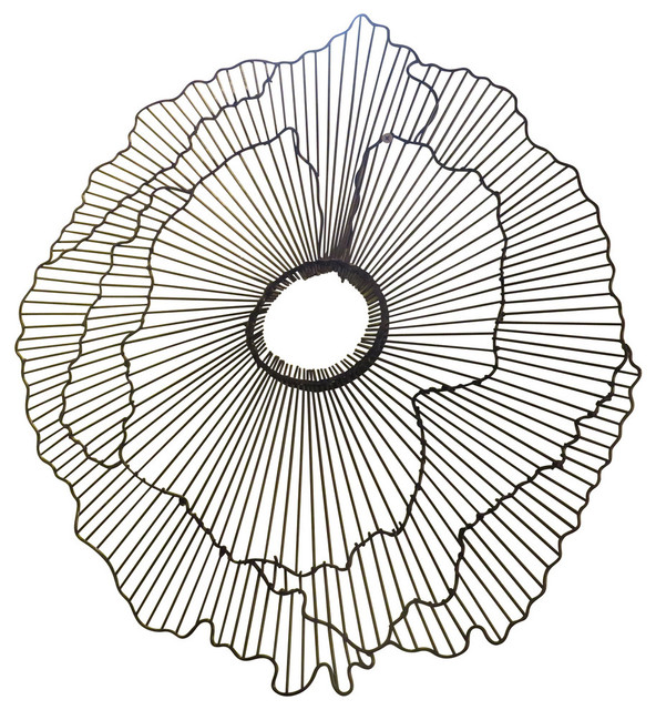 "Wire Wall Art modern 40"" wire flower wall art, contemporary metal sculpture"