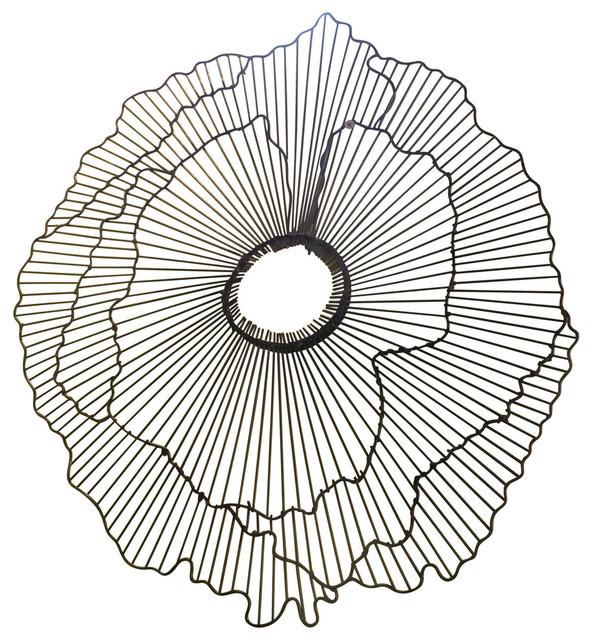 Modern 40 Wire Flower Wall Art Contemporary Metal Sculpture