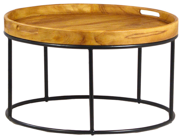 Round Wood Tray Table Contemporary Coffee Tables By Design Mix Furniture