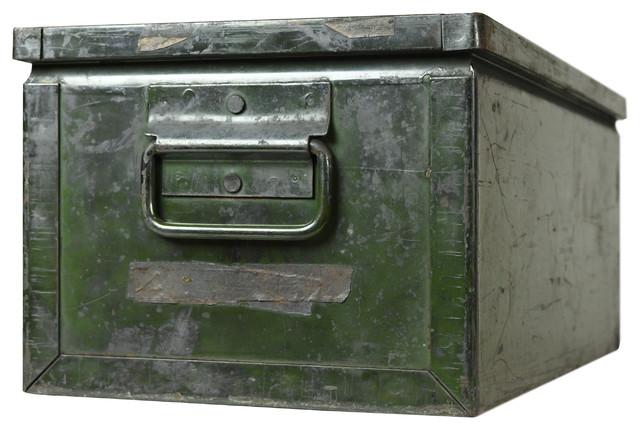 Consigned Vintage Metal Industrial Storage Bin.