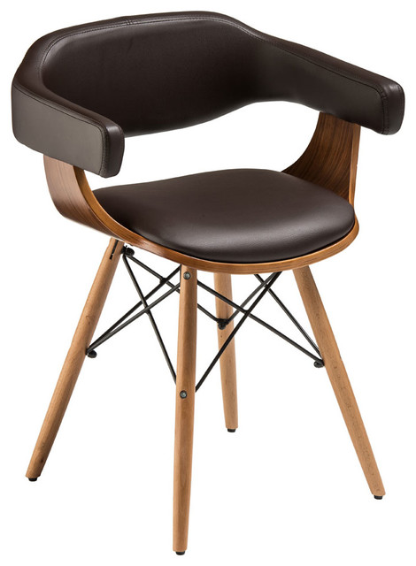Beech Base Chair, Brown Midcentury Dining Chairs