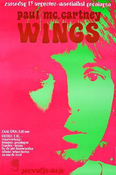 paul mccartney wings holland concert poster