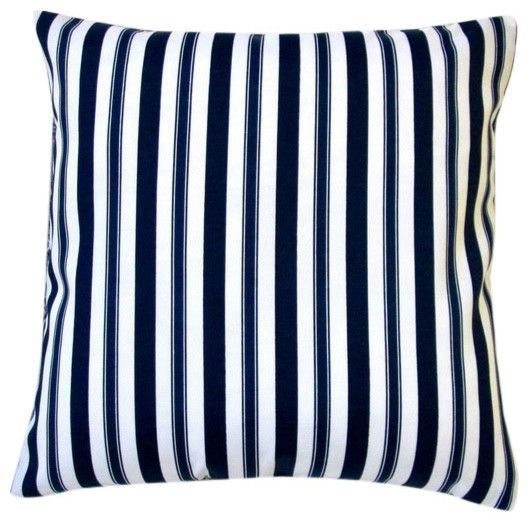 Outdoor Pillows Set Of 2.Outdoor Navy Polyester Stripe Throw Pillows Set Of 2 Small Stripes