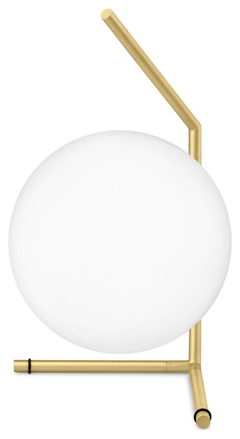 Flos IC Low Table Lamp, Brass