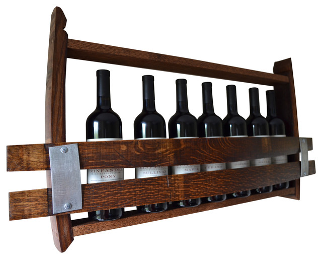 Wine Rack from Wine Barrel Staves - Transitional - Wine And Bar Tools ...