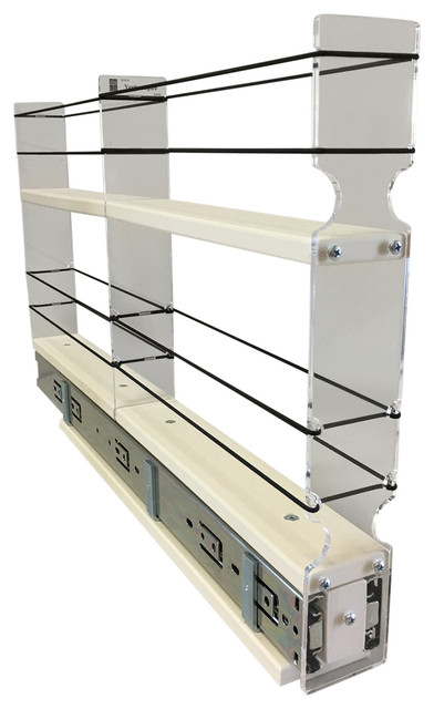 2x2x22 Spice Rack Drawer, Cream - Contemporary - Pantry ...