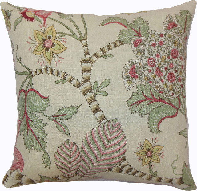 The Pillow Collection Itzel Floral Pillow Berry