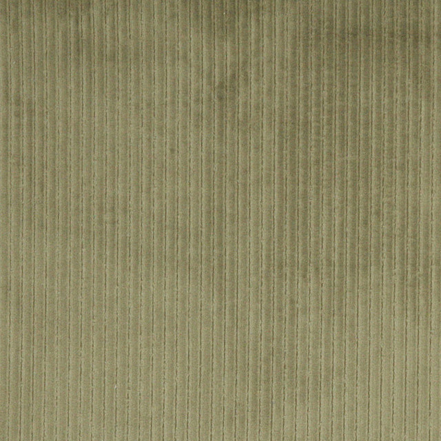 Green Stripe Corduroy Velvet Upholstery Fabric By The Yard