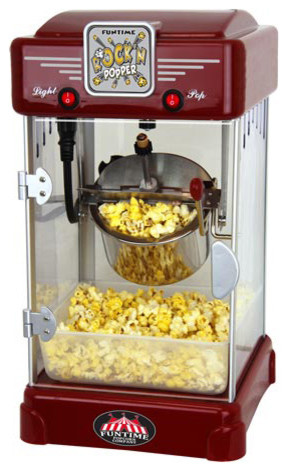 Funtime 2.5 Oz Retro Style Rock&x27;n Popper Popcorn Machine.
