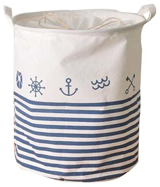 Cotton Linen Waterproof Laundry Basket, F.
