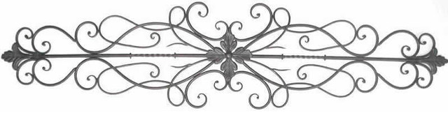 """Florentina Tuscan 43"""" Wrought Iron Scrolling Acanthus Wall Topper Swag."""