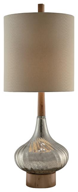 Flash Back Table Lamp 36.5  14x14x15 Tan Linen Shade.