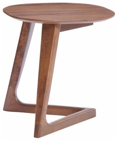 Park West Side Table, Walnut Midcentury Side Tables And End