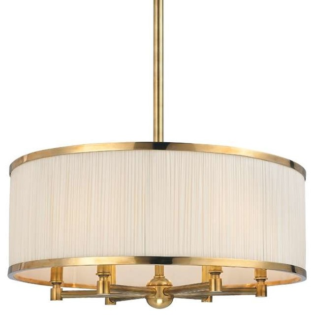 Hudson Valley Lighting 5224 Agb Chandelier In Aged Br