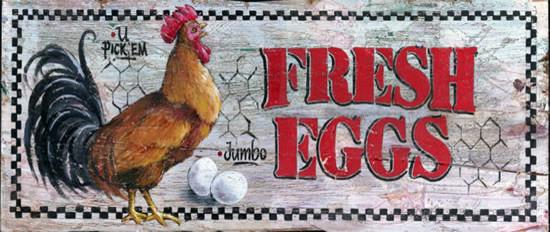 Fresh Eggs Sign.
