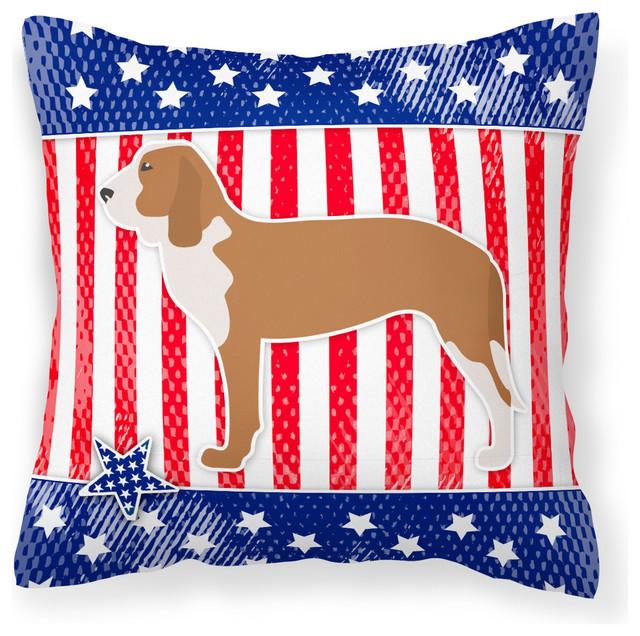 Caroline s Treasures - Usa Patriotic Spanish Hound Fabric Decorative Pillow - View in Your Room ...