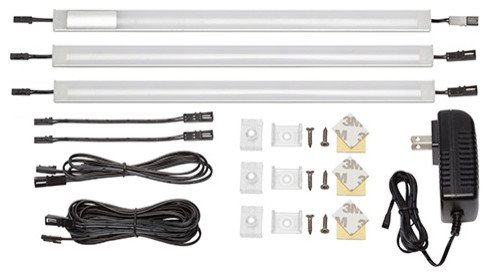 """3 Panel 12"""" Warm White Touch On/Off Dimmer Switch Lighting"""