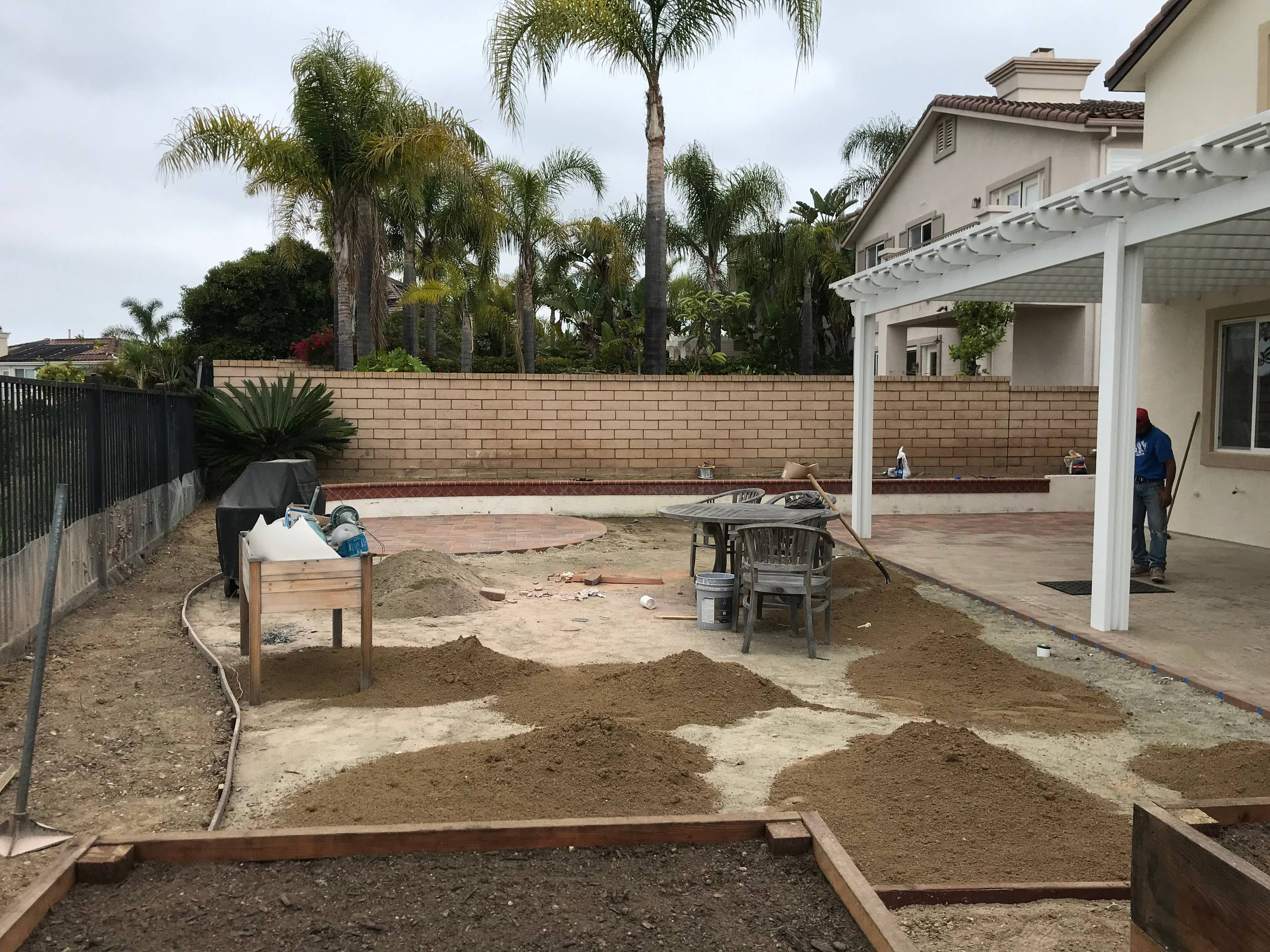 Prep for Artificial Turf and Plants