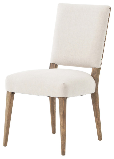 Holland Modern Classic Soft Beige Linen Dining Chair Modern Dining Chairs