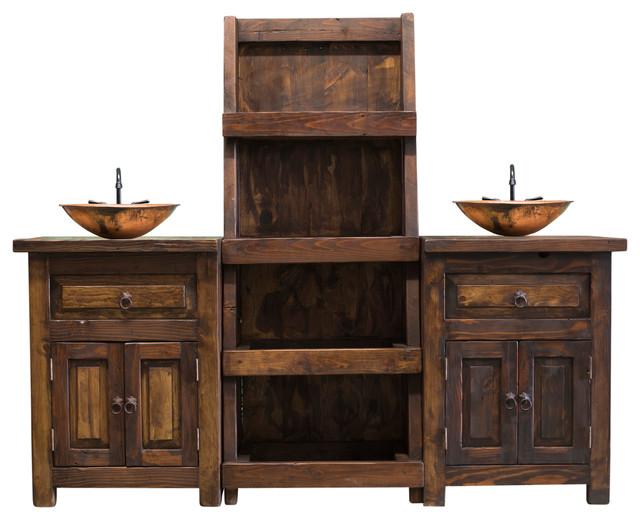 Emmett Bathroom Vanity From Reclaimed Wood Rustic Bathroom Vanities And Sink Consoles By Foxden Decor Houzz