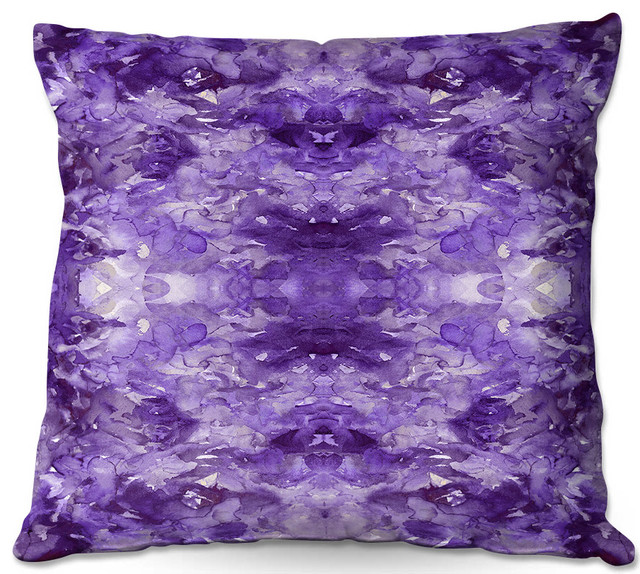 Dianoche Outdoor Pillows By Julia Di Sano Tie Dye Helix Purple