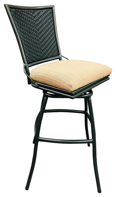 los angeles 53ead 46d9b Erin 35inch Extra Tall Armless Terracota Outdoor Swivel Bar Stool,  Terracota, Co