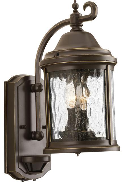 Ashmore 2-Light Outdoor Wall Lights, Antique Bronze.