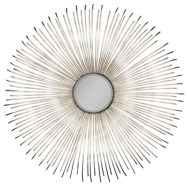 Dazzling 32 Quot Convex Silver Sunburst Wall Mirror