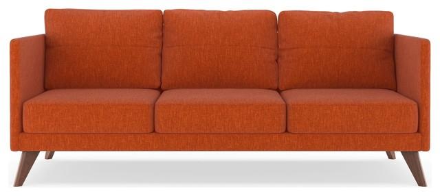 Finley Sofa Pebble Weave, Poppy Orange.