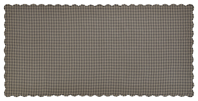 VHC Brands Black Checkered and Scalloped Table Cloth  : farmhouse tablecloths from www.houzz.com size 640 x 326 jpeg 99kB