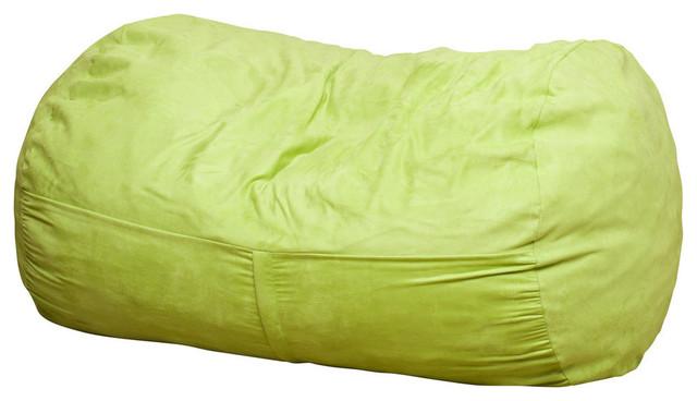 Tremendous Gdf Studio Cassell Green Fabric 4 Foot Lounge Beanbag Chair Cjindustries Chair Design For Home Cjindustriesco