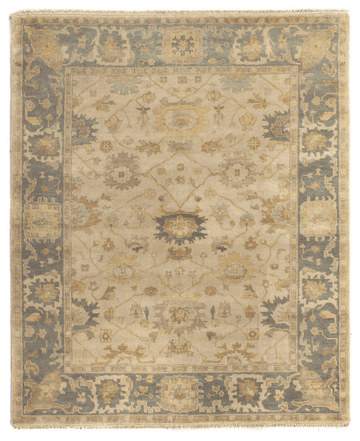 Exquisite Rugs Vlora Antique-Style Woven Oushak Rug, Beige