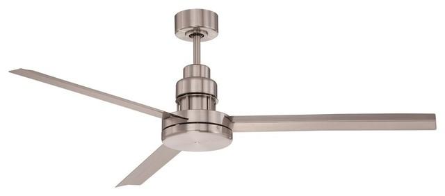 "Craftmade 54"" Mondo Ceiling Fan, Brushed Polished Nickel."
