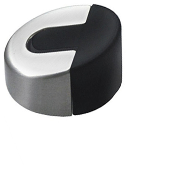 modern low profile 304 stainless steel 1 round floor mounted door stop satin - Designer Door Stops