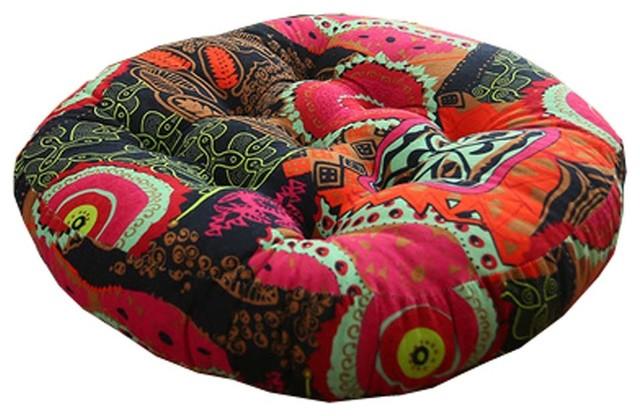 Retro Thicken Cotton Linen Floor Pillow Cushion Futon Round Seat A1